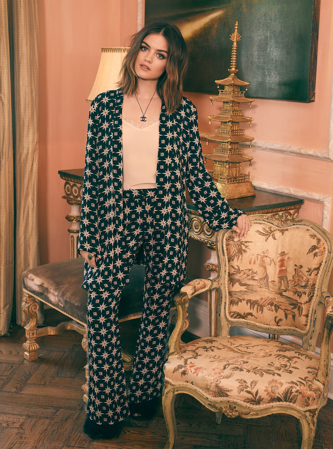 lucy hale's holiday style for shopbop