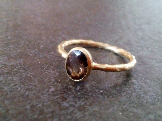 etsy love smoky quartz ring