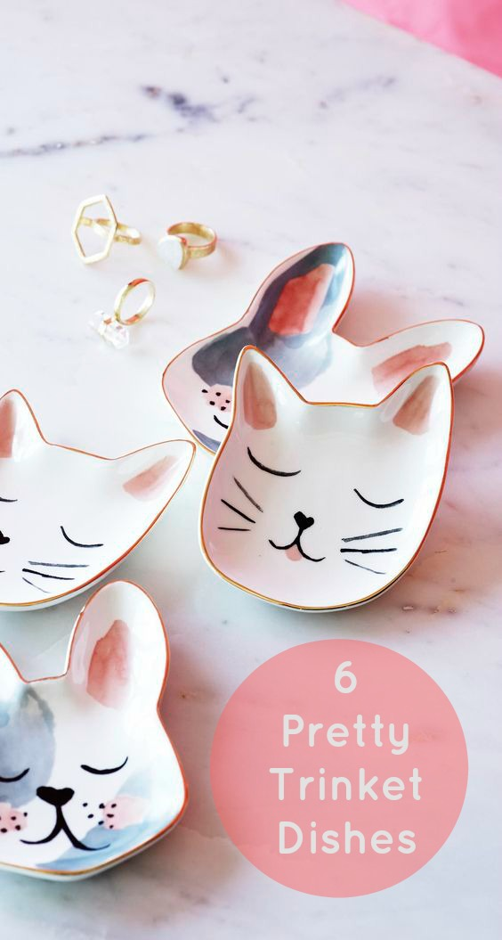 6 Pretty Trinket Dishes