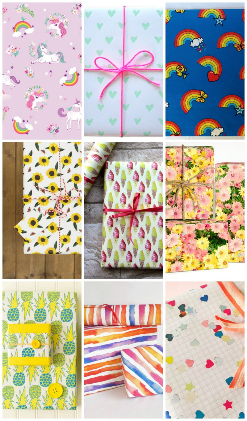 Bright Wrapping Paper For Summer