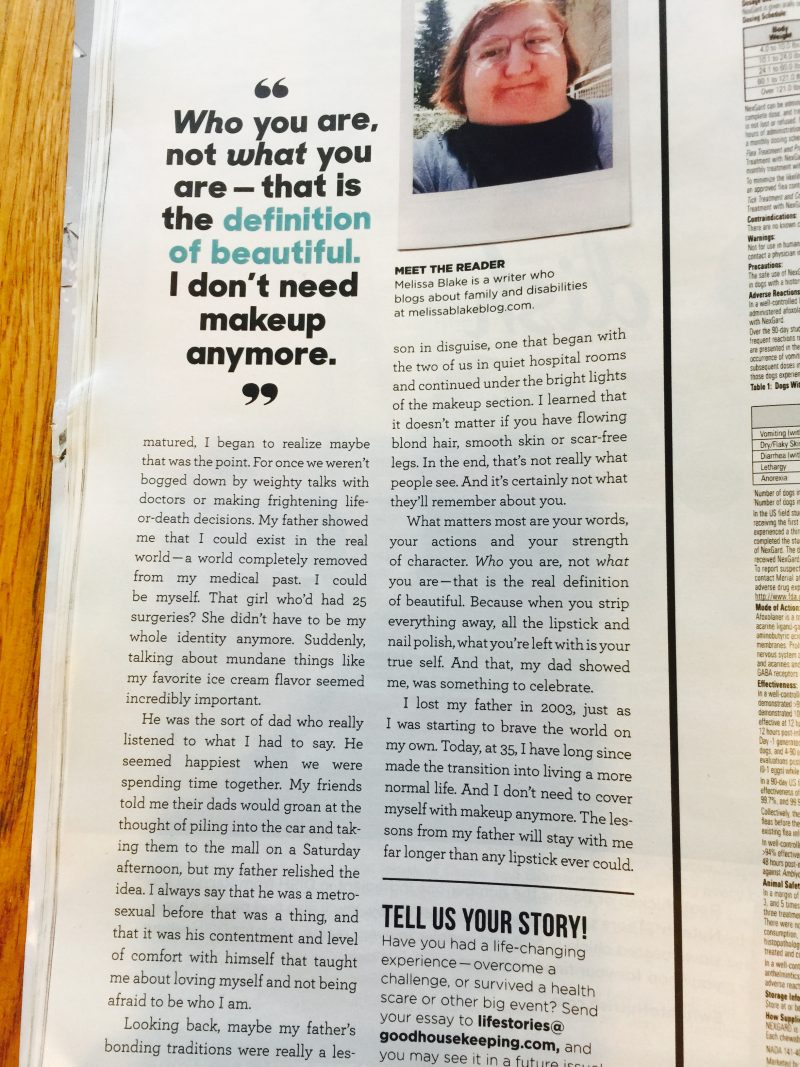 Essay in Good Housekeeping Print Magazine