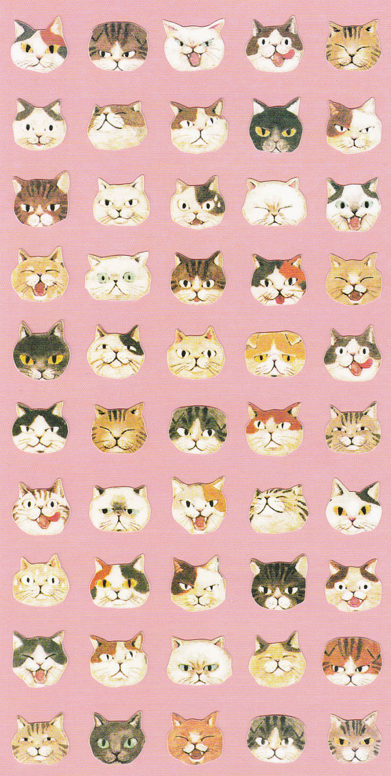 cat stickers galore