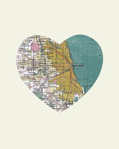 Etsy love heart shaped city prints so about what i said chicago for its hot dogs shopping on michigan avenue and some surprisingly good memories from my surgery and doctor days gumiabroncs Images