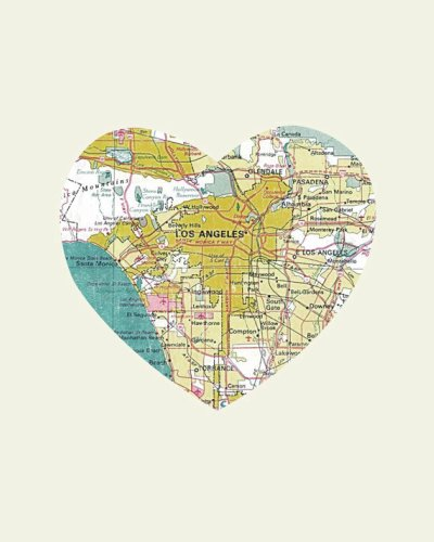 Etsy love heart shaped city prints so about what i said los angeles where we gawked at the hollywood walk of fame squeeled when we saw all the suits from frasier and felt like celebrities when we sat poolside gumiabroncs Images