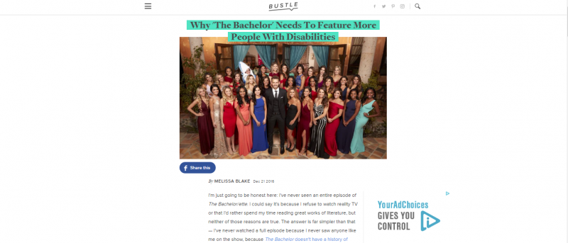 bustle essay people with disabilities on the bachelor