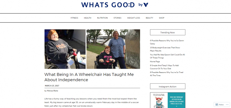 being in a wheelchair and independence