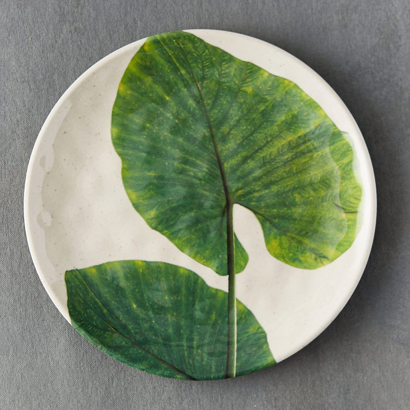 Tropical Foliage Serving Plates