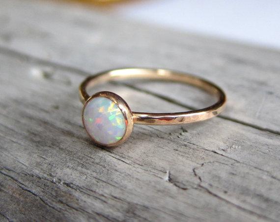 Pretty Opal Rings