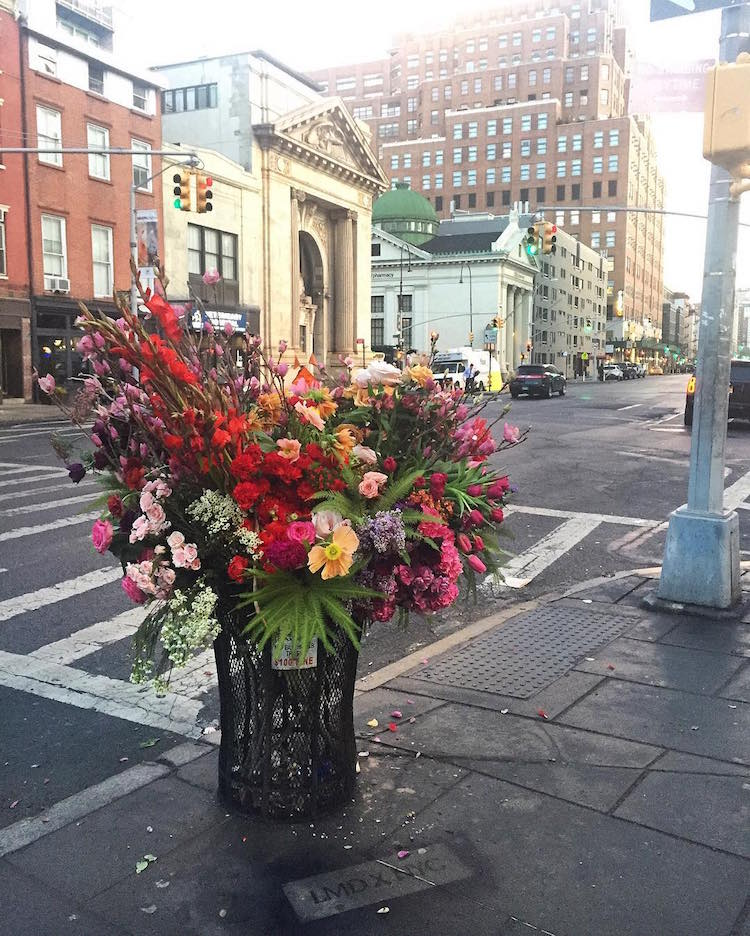 Lewis Miller Trash Can Flowers