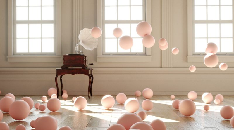 Federico Picci Filling Spaces pink balloons