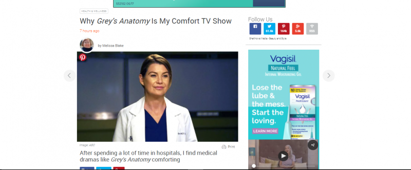 Grey's Anatomy SheKnows essay